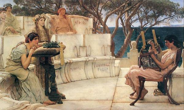 paint-Alma-Tadema - Sappho and Alcaeus (18881)