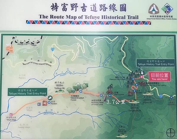 01 特富野古道路線圖