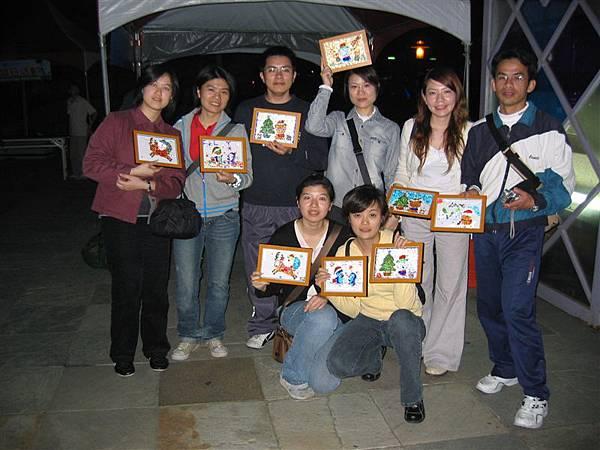珠畫製作團體照