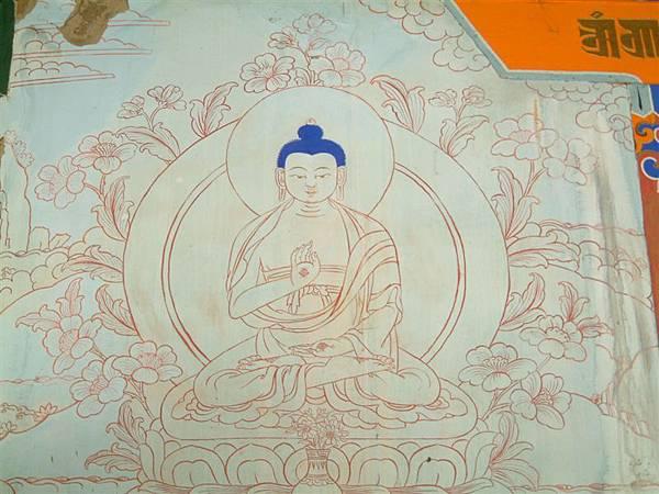 桑耶寺壁上釋迦牟尼畫.JPG