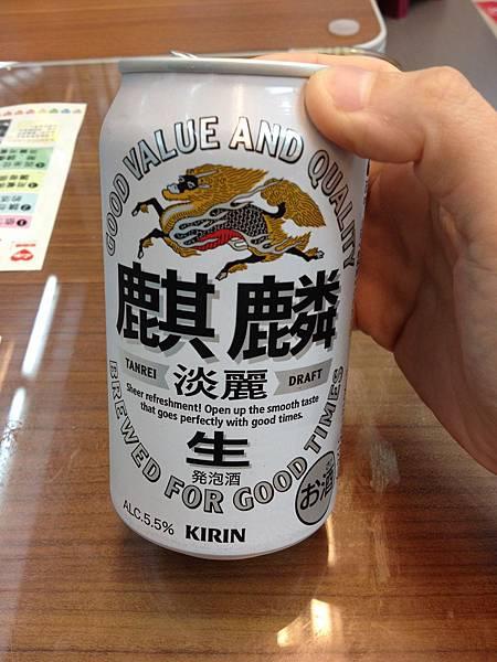 麒麟淡麗生啤酒 alc.5.5%