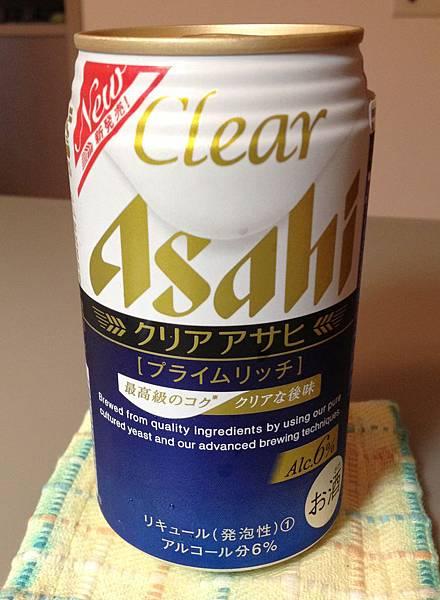 ASAHI CLEAR(藍)生啤酒 alc.6%