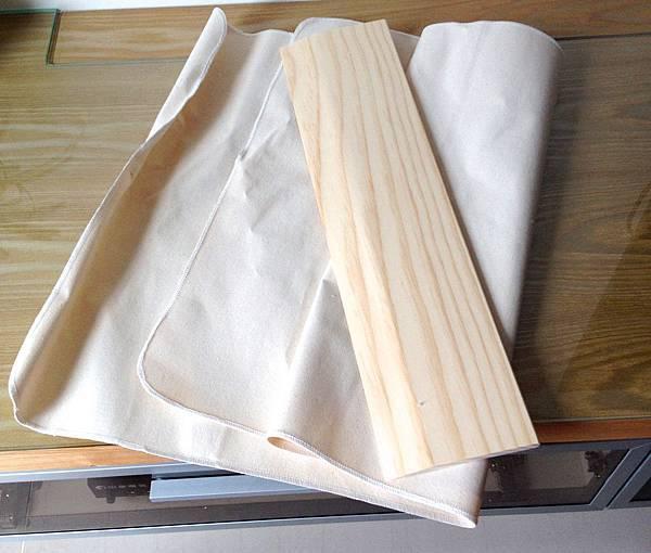 帆布+木板