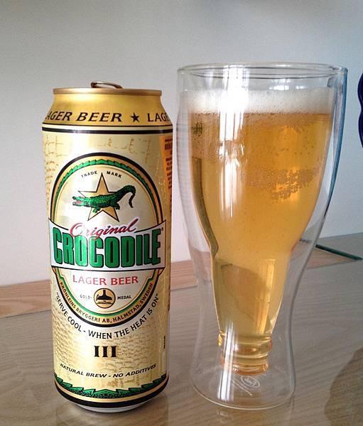 瑞典Crocodile Lager Beer 鱷魚拉格啤酒 alc.5.2%