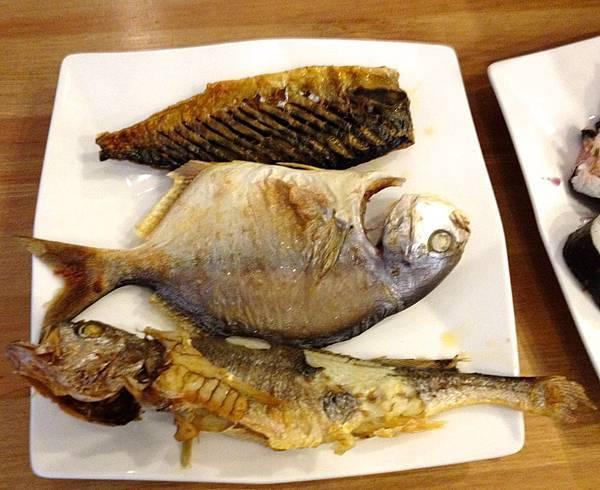 烤鯖魚、金鯧、黃魚