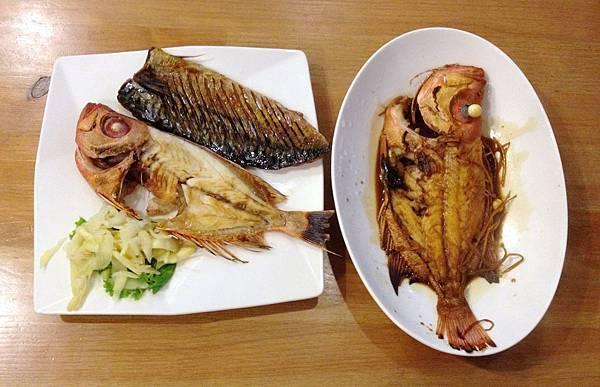 紅目連 鹽烤/紅燒、鹽烤鯖魚