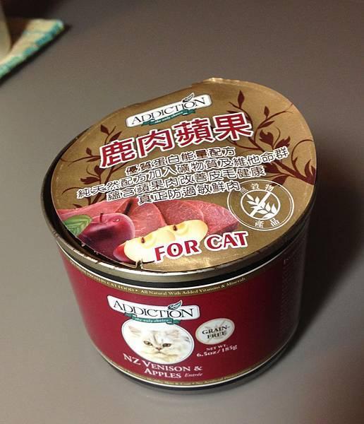 昂貴的鹿肉貓食罐頭