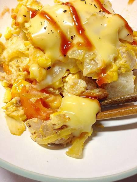 起司番茄蛋-鮪魚玉米03