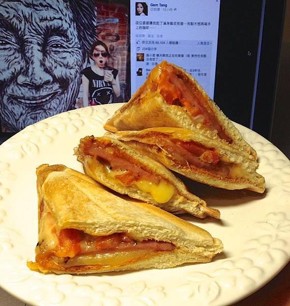 熱壓三明治(火腿、起司、牛番茄)