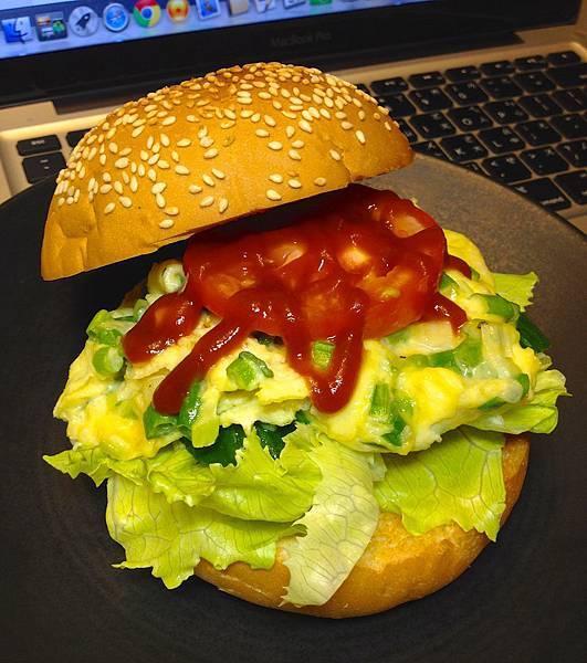 蔥蛋漢堡包:)