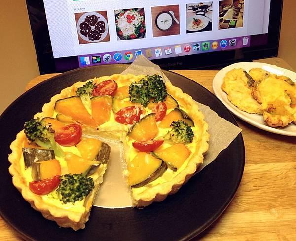 南瓜蔬菜鹹派、南瓜曲奇