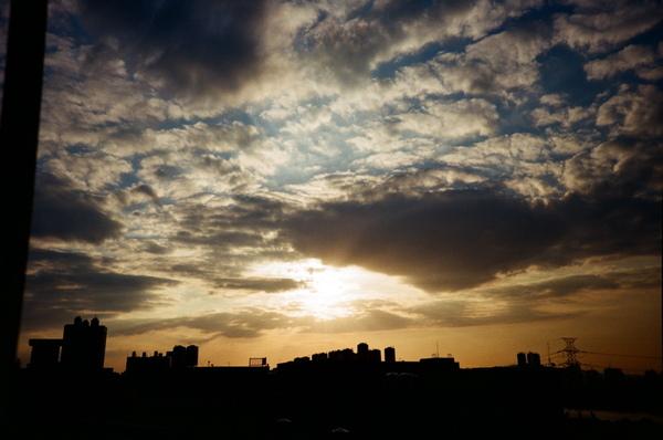 我家樓上看到的夕陽