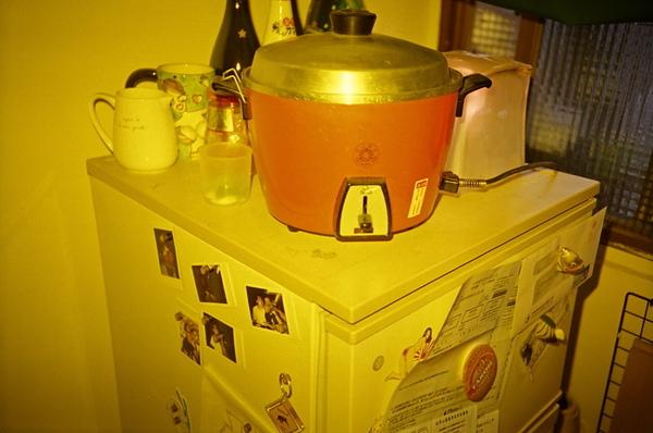 我用電鍋自己煮 臘味飯!!gooood!