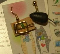 補鼠器耳環