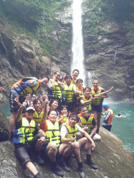 第二戰 溯溪 進階班-耶...我們終於到了金岳大瀑布