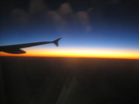 機上的夕陽