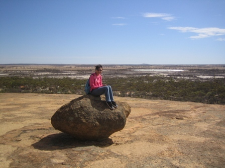 sit on rock