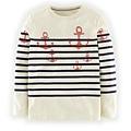 Logo Breton T-shirt(Ecru Navy Anchors 6-7Y).jpg