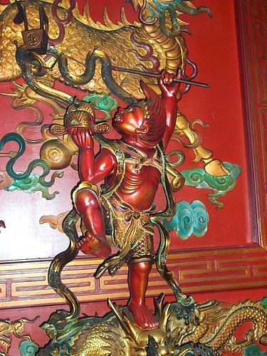 台北縣 樹林鎮安宮 奉祀的 魁星爺 其造型較為獨特.jpg