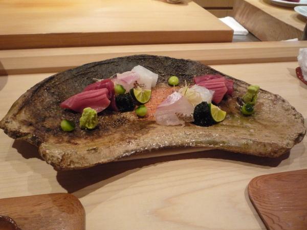 本鮪,真鯛,墨魚的生魚片大盛