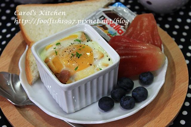 焗烤菇菇香腸蛋盅IMG_1342