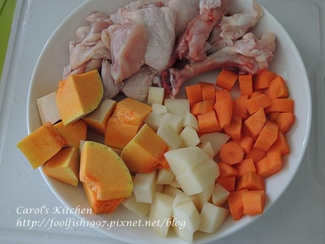南瓜雞肉咖哩DSCN0513