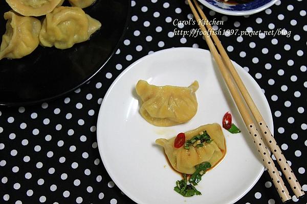 胡蘿蔔韭黃豬肉水餃 10.JPG