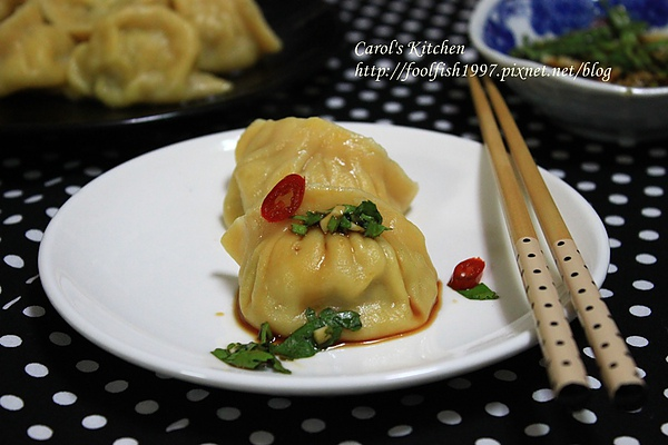 胡蘿蔔韭黃豬肉水餃 01.JPG