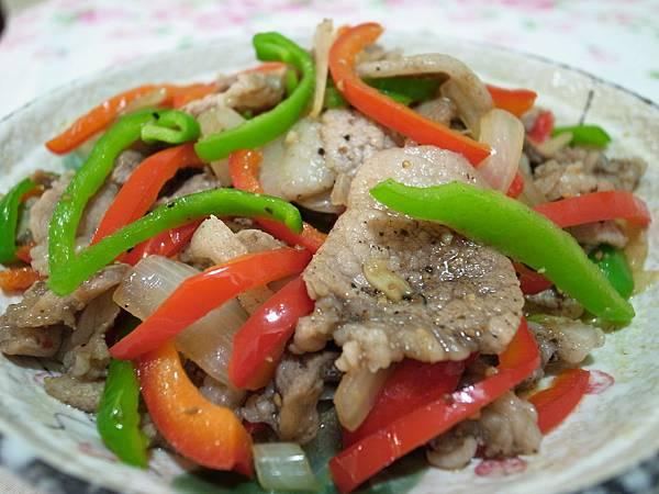 1-2三色炒鹹豬肉.JPG