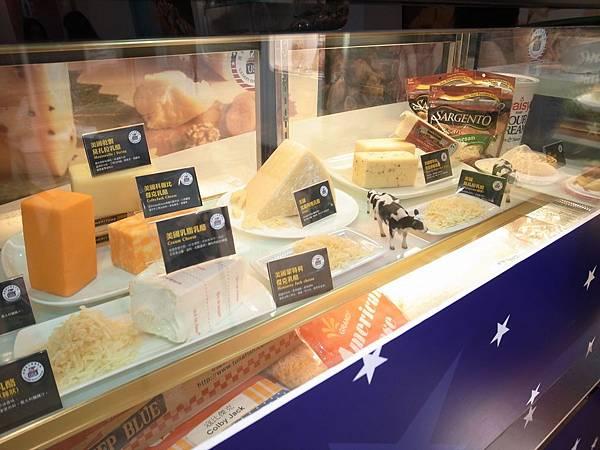 6.美國乳酪展示櫥窗