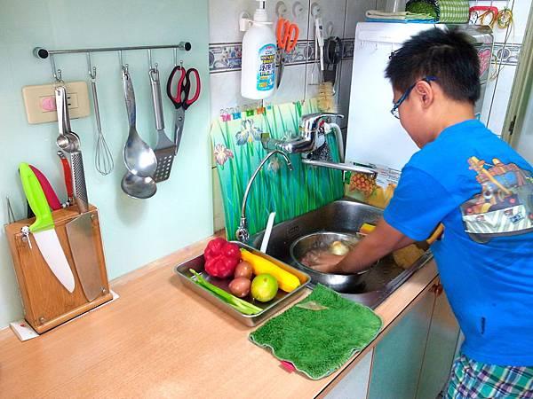 4.清洗蔬菜