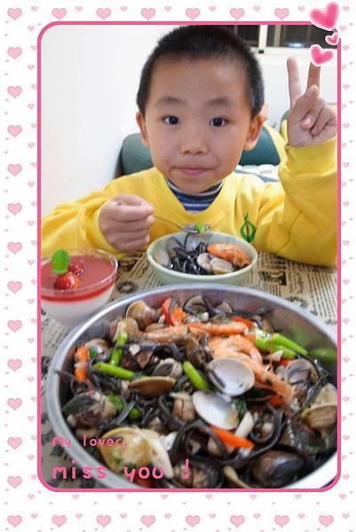 16.海鮮口味最對Jerry的胃口.JPG