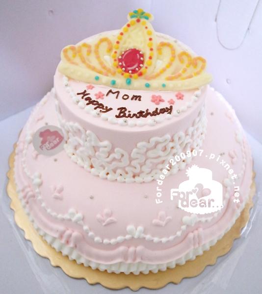 【R0016222- 主圖:公主皇冠】主圖飾片式/雙層蛋糕舞台