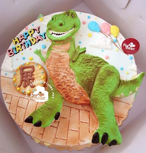 R0018857【主圖:抱抱龍】浮凸式/單層蛋糕舞台