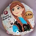 R0021250【主圖:精緻版-安娜+平面小雪寶】浮凸式/單層蛋糕舞台