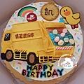 R0022283【主圖:垃圾車(浮凸式)+莎莉(飾片)】/單層蛋糕舞台