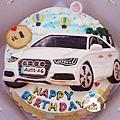 R0022072【主圖:品牌汽車-奧迪】浮凸式/單層蛋糕舞台
