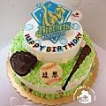 R0022893【兄弟象棒球風】飾片式/雙層蛋糕舞台
