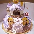 R0025767-【大小塔屋頂型城堡+Q版公主飾片:樂珮、奧羅拉】