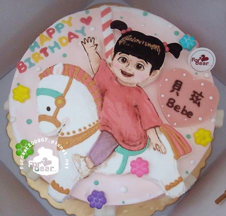 R0025617【主圖:阿布騎乘一匹旋轉木馬)】浮凸式/單層蛋糕舞台