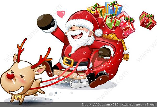 聖誕老人送禮物囉