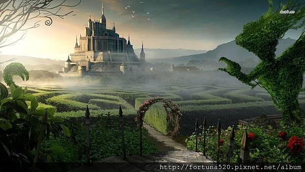 13029-castle-garden-1366x768-fantasy-wallpaper