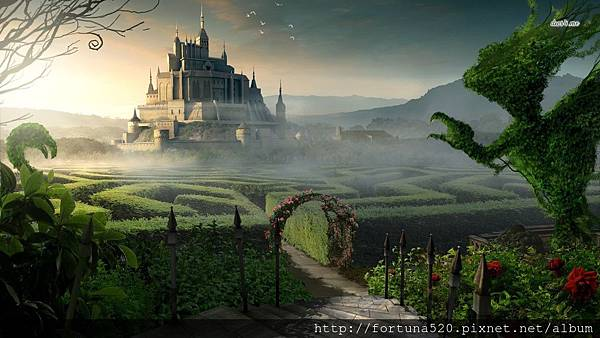 13029-castle-garden-1366x768-fantasy-wallpaper