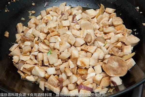 麻油蔥薑蒜熱炒杏鮑菇-1109