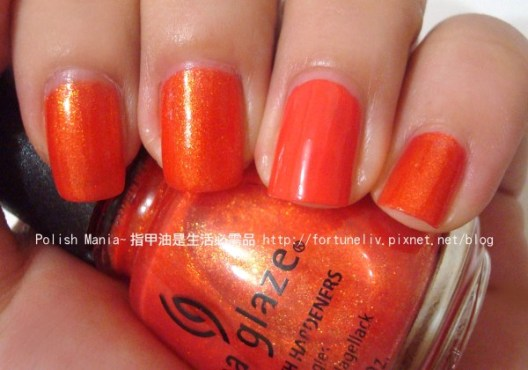 China Glaze #80221-Orange Marmalade (無名指Bourjois妙巴黎#33-Tangerine fatal)