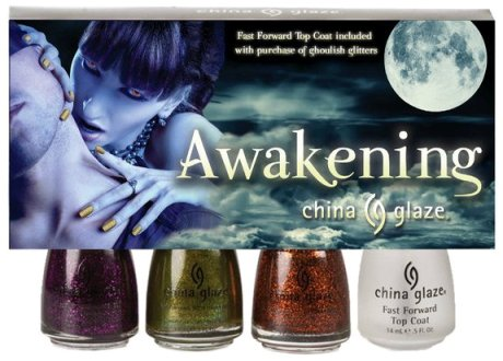 小圖-China Glaze Awakening (for Halloween 2010)-3 Gorgeous and ghoulish glitters with a China Glaze Fast Forward Top Coat included. Available at Sally's Beauty.jpg
