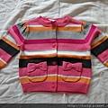 Gymboree橫條紋針織外套,12-18M。