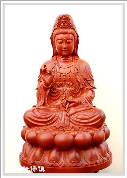 【佛山軒神像佛俱】 正體卍字衣觀音菩薩神像