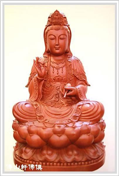 【佛山軒佛像佛俱】紅檀木觀世音菩薩神像