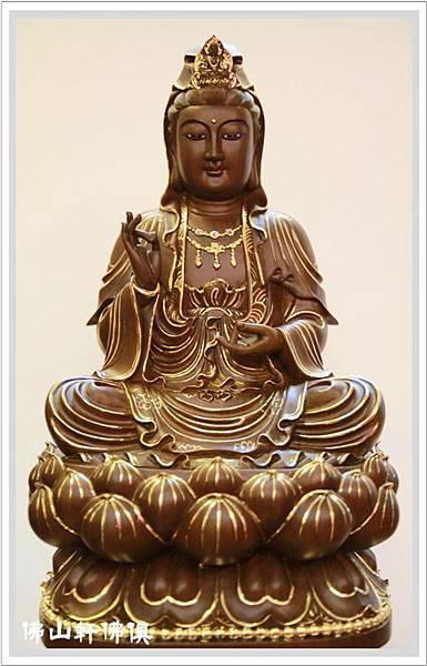【佛山軒神像佛俱】綠檀木觀世音菩薩佛像-1呎6描金